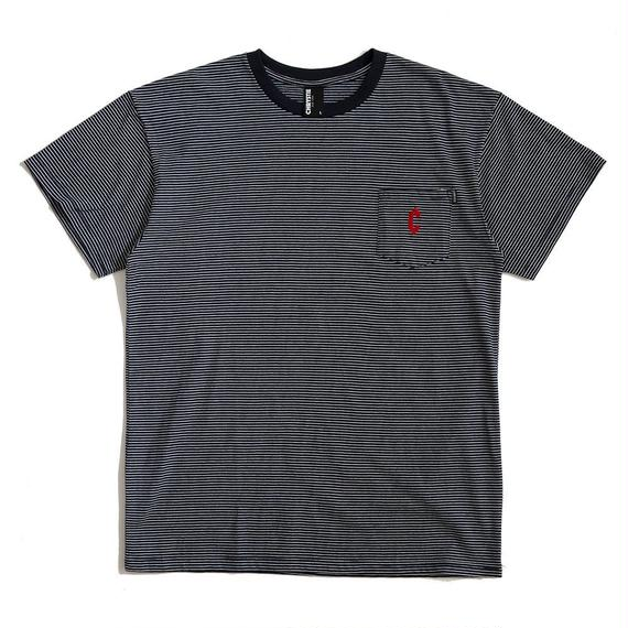 CHRYSTIE NYC C LOGO STRIPE POCKET T / NAVY