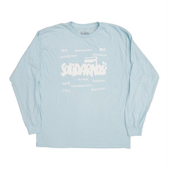 HUMBLE Solidarity longsleeve tee skylake blue/white
