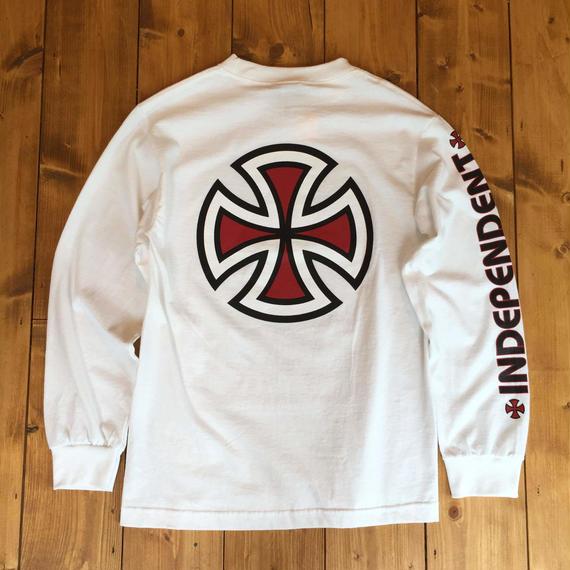Independent truck Co. Bar/Cross L/S T-Shirt - White