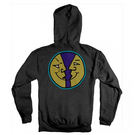 KROOKED MOOSMILE 2 HOODY HEATHER CHARCOAL