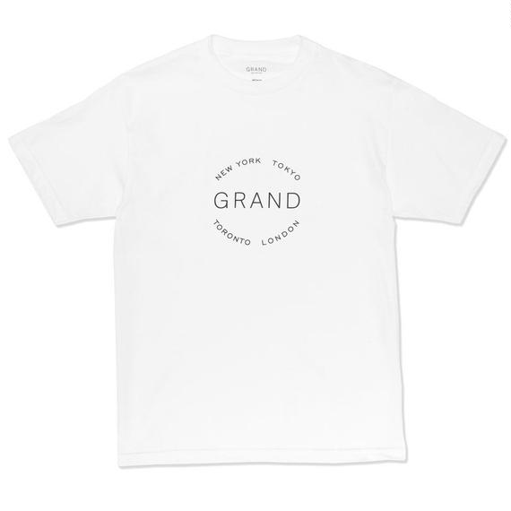 GRAND COLLECTION  CITIES TEE WHITE