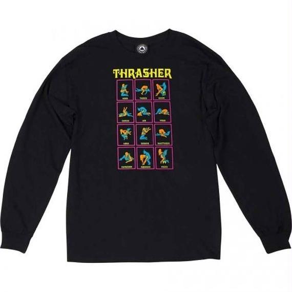 Thrasher Black Light Long Sleeve T-Shirt  Black