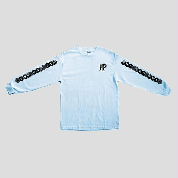 "PASS~PORT ""PP WORLD RECORDS"" L/S TEE POWDER BLUE"