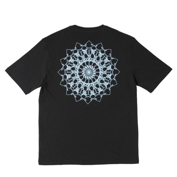 WAYWARD LONDON 'MANDEALER' Short sleeve T-shirt. Black
