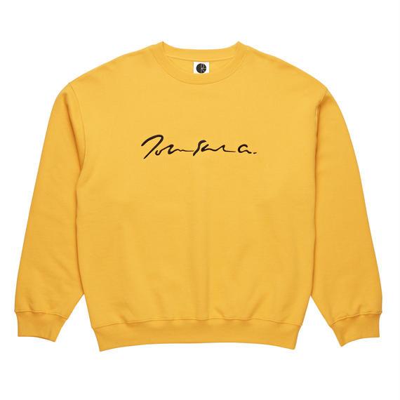 POLAR SKATE CO. SIGNATURE CREWNECK Yellow