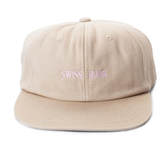 "SWISS BANK ""TAN 6 PANEL""CAP"