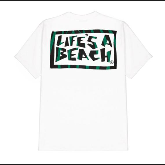 LIFE'S A BEACH Logo Jungle Tee White