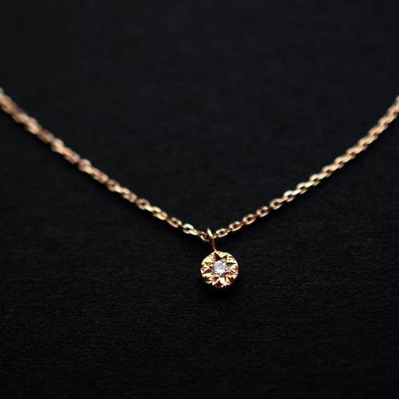 《ジョル二・プティ》K18イエローゴールド・ダイアモンド・ネックレス(チェーンK10イエローゴールド)