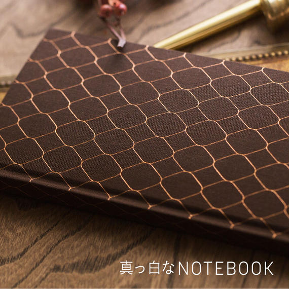 真っ白なNOTEBOOK  [Argyle]_ DARK BROWN