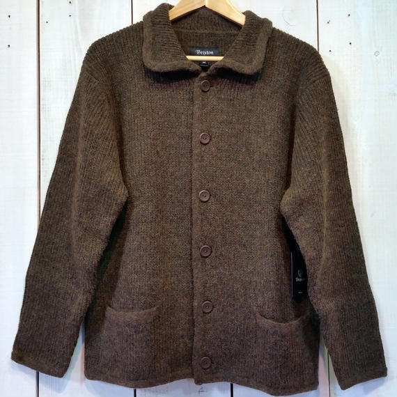 ブリクストン【BRIXTON】POWELL CARDIGAN color:HEATHER BROWN