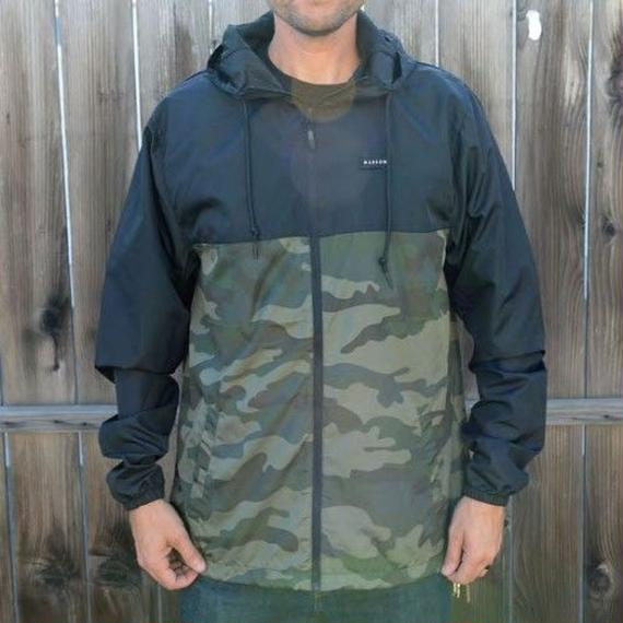 待望の日本上陸!【MADSON OF AMERICA】STAPLE WINDBREAKER   color :  Black / Camo