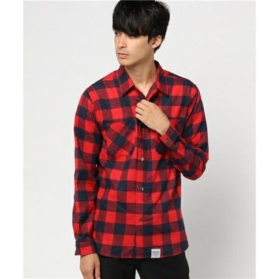 マジックナンバー【MAGIC NUMBER】BLOCK CHECK SHIRT  color:Red