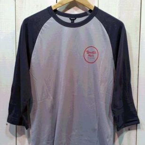 【BRIXTON】WHEELER 3/4 SLEEVE TEE  color:DENIM/INDIGO