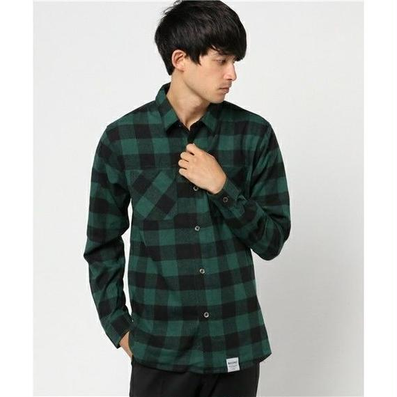 マジックナンバー【MAGIC NUMBER】BLOCK CHECK SHIRT  color:Green
