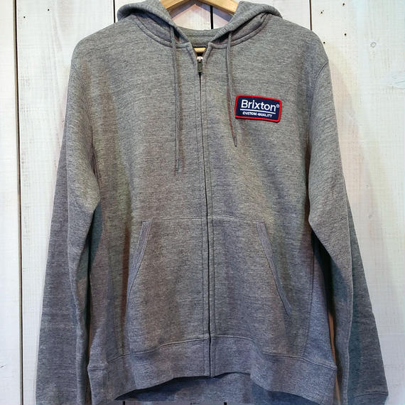 ブリクストン【BRIXTON】PALMER ZIP HOOD FLEECE color:HEATHER GREY