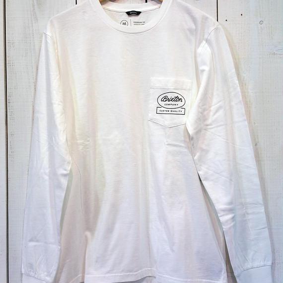 ブリクストン【BRIXTON】DALE L/S PREM TEE color:OFF WHITE