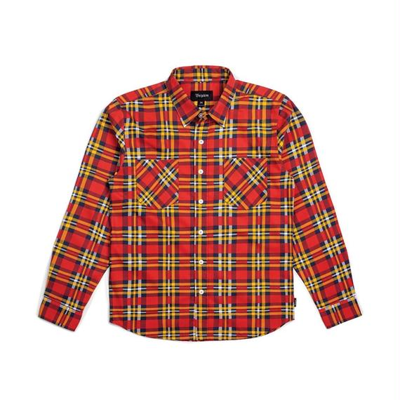 ブリクストン【BRIXTON】BENNET L/S FLANNEL Color:RED/GOLD
