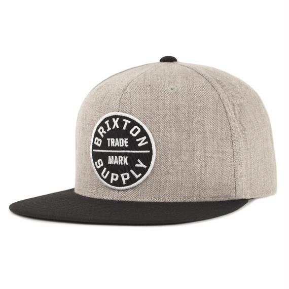 ブリクストン【BRIXTON】OATH III SNAPBACK    Color: HEATHER GREY/BLACK