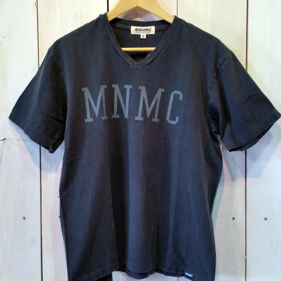 【MAGIC NUMBER】Pigment Wash Tee V-Neck  color:Black