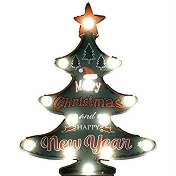 2018かわいいクリスマスにしよう!クリスマスツリーLEDサインボード