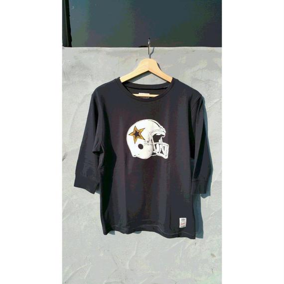 3月Tシャツ祭り!マジックナンバー【MAGIC NUMBER】アメフトヘルメット 7分丈Tシャツ カラー:ネイビー