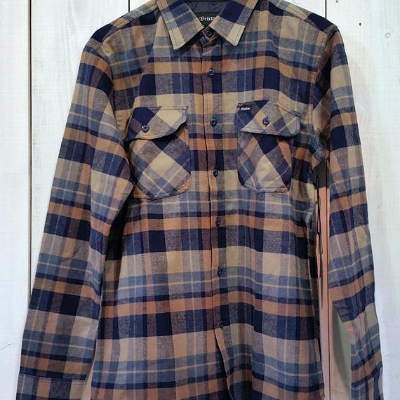 ブリクストン【BRIXTON】FLYNN L/S FLANNEL color:NAVY/KHAKI
