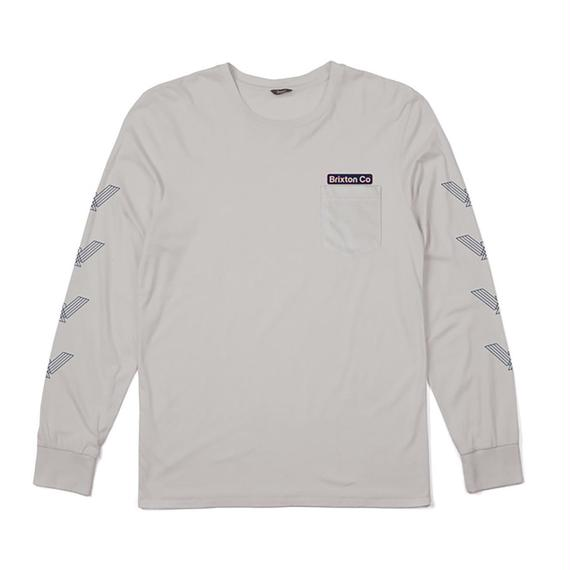 ブリクストン【BRIXTON】MARON L/S POCKET TEE   Color:STONE