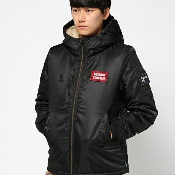 【MAGIC NUMBER】Bomber Hoodie Jacket color:Black