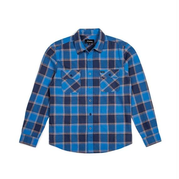 ブリクストン【BRIXTON】BOWERY L/S FLANNEL  Color:BLUE/NAVY