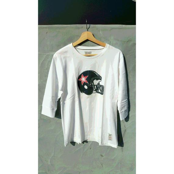 3月Tシャツ祭り!マジックナンバー【MAGIC NUMBER】アメフトヘルメット 7分丈Tシャツ カラー:ホワイト