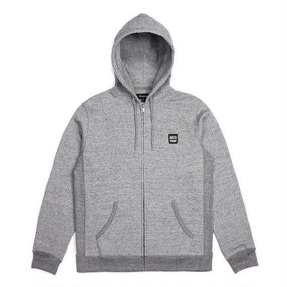 ブリクストン【BRIXTON】Bering Zip Hood Fleece  color:ヘザーグレー