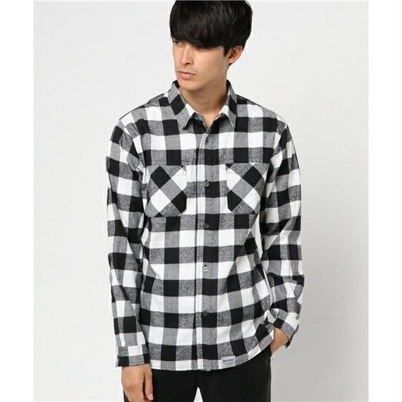 マジックナンバー【MAGIC NUMBER】BLOCK CHECK SHIRT  color:Black