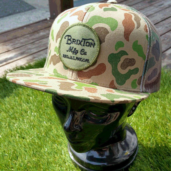 【BRIXTON】WHEELER MESHCAP   color:Brown/Camo