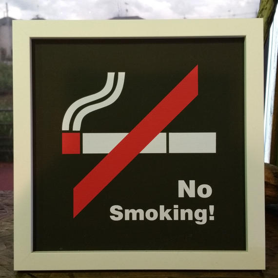 【Sign Frame】No Smoking !
