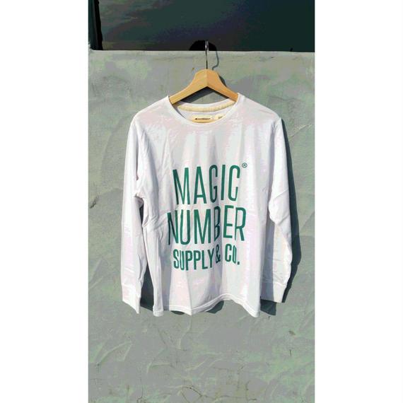 マジックナンバー【MAGIC NUMBER】ロゴロングTシャツ カラー:ホワイト