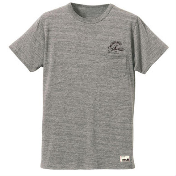 【JUSTICE】SUNRISE POCKET TEE  color:Ash Gray