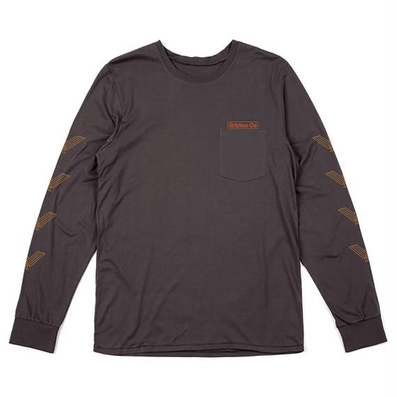 ブリクストン【BRIXTON】MARON L/S POCKET TEE   Color:WASH BLACK