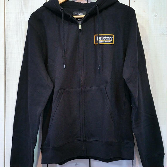 ブリクストン【BRIXTON】PALMER ZIP HOOD FLEECE color:BLACK