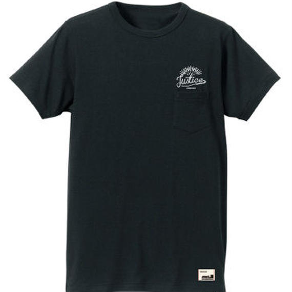 【JUSTICE】SUNRISE POCKET TEE  color:Black