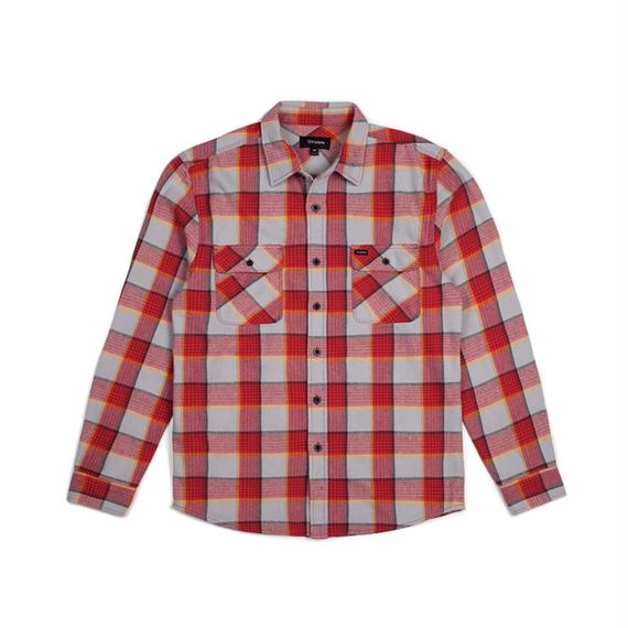 ブリクストン【BRIXTON】BOWERY L/S FLANNEL  Color:RED/GREY