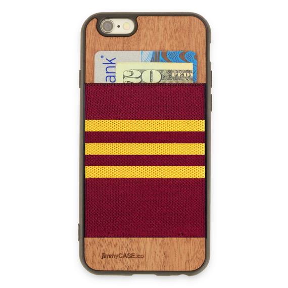 ジミーケース【jimmy CASE】iphone6/6s ケース カラー:ボルドー×イエロー