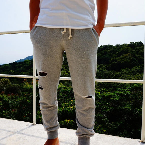 【The Beach Bed】Sweat Crash Pants  color:Grey