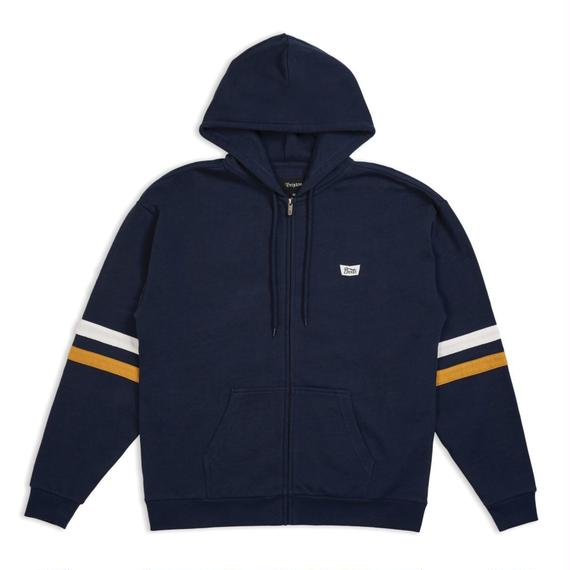 2018秋冬モデル ブリクストン【BRIXTON】STITH HOOD ZIP FLEECE  color : Navy