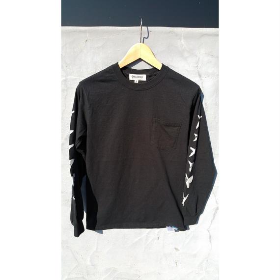 3月Tシャツ祭り!マジックナンバー グレムリン【MAGIC NUMBER】TEETH L/S POCKET TEE カラー:ブラック