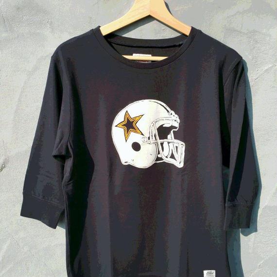 マジックナンバー【MAGIC NUMBER】アメフトヘルメット 7分丈Tシャツ カラー:ネイビー