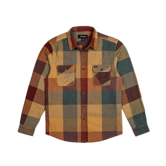 ブリクストン【BRIXTON】BOWERY L/S FLANNEL  Color:RUST/COPPER