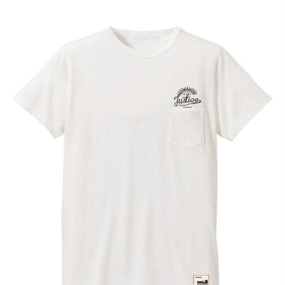 【JUSTICE】SUNRISE POCKET TEE  color:White