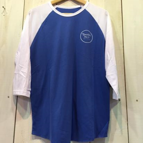 【BRIXTON】WHEELER 3/4 SLEEVE TEE  color:Royal/White