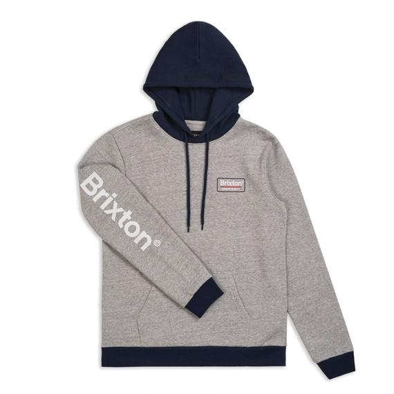2018秋冬モデル ブリクストン【BRIXTON】PALMER II HOOD FLEECE   color : Heather Grey / Navy