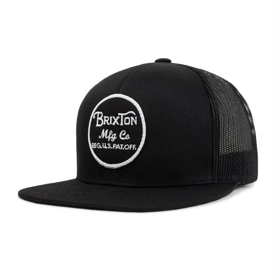2018モデル ブリクストン【BRIXTON】WHEELER MESH CAP  color : BLACK/BLACK